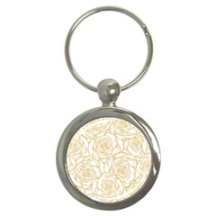 Yellow Peonies Key Chains (round)  by 8fugoso