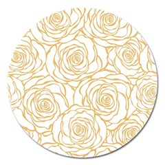 Yellow Peonies Magnet 5  (round) by 8fugoso