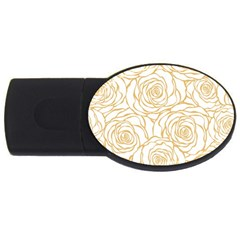 Yellow Peonies Usb Flash Drive Oval (4 Gb) by 8fugoso