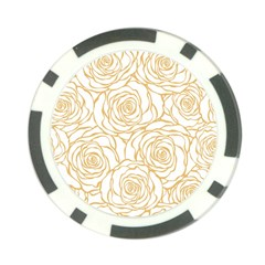 Yellow Peonies Poker Chip Card Guard (10 Pack) by 8fugoso