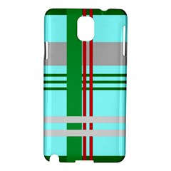 Christmas Plaid Backgrounds Plaid Samsung Galaxy Note 3 N9005 Hardshell Case by Celenk