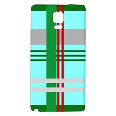 Christmas Plaid Backgrounds Plaid Galaxy Note 4 Back Case by Celenk