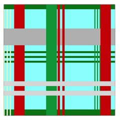 Christmas Plaid Backgrounds Plaid Large Satin Scarf (square) by Celenk