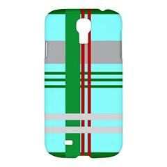 Christmas Plaid Backgrounds Plaid Samsung Galaxy S4 I9500/i9505 Hardshell Case by Celenk