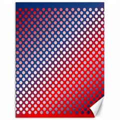 Dots Red White Blue Gradient Canvas 18  X 24   by Celenk