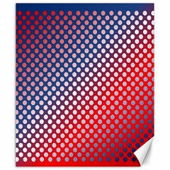 Dots Red White Blue Gradient Canvas 20  X 24   by Celenk