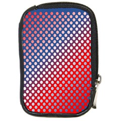 Dots Red White Blue Gradient Compact Camera Cases by Celenk