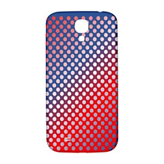 Dots Red White Blue Gradient Samsung Galaxy S4 I9500/i9505  Hardshell Back Case by Celenk