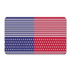 American Flag Patriot Red White Magnet (rectangular) by Celenk