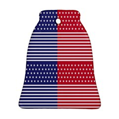 American Flag Patriot Red White Ornament (bell) by Celenk