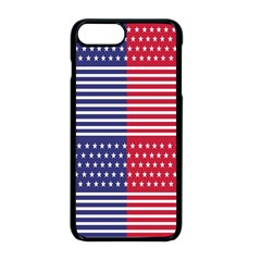 American Flag Patriot Red White Apple Iphone 8 Plus Seamless Case (black) by Celenk