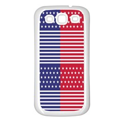 American Flag Patriot Red White Samsung Galaxy S3 Back Case (white)