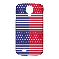 American Flag Patriot Red White Samsung Galaxy S4 Classic Hardshell Case (pc+silicone) by Celenk