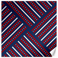 Patriotic Red White Blue Stars Canvas 12  X 12   by Celenk