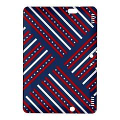 Patriotic Red White Blue Stars Kindle Fire Hdx 8 9  Hardshell Case by Celenk