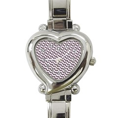 Halloween Lilac Paper Pattern Heart Italian Charm Watch by Celenk