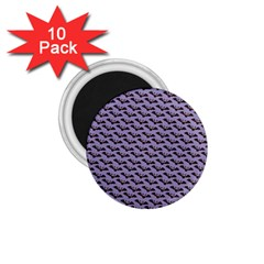Bat Halloween Lilac Paper Pattern 1 75  Magnets (10 Pack)  by Celenk