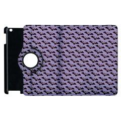 Bat Halloween Lilac Paper Pattern Apple Ipad 3/4 Flip 360 Case by Celenk