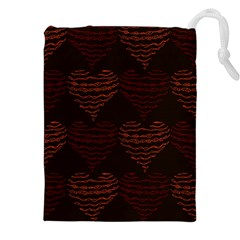 Heart Seamless Background Figure Drawstring Pouches (xxl) by Celenk