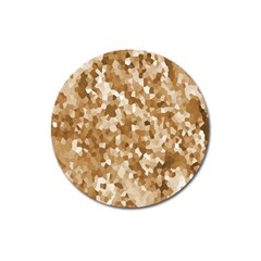 Texture Background Backdrop Brown Magnet 3  (round) by Celenk