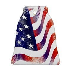 Usa Flag America American Ornament (bell) by Celenk