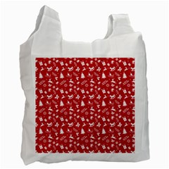 Red Christmas Pattern Recycle Bag (two Side)  by patternstudio