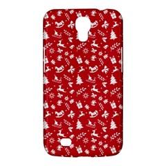 Red Christmas Pattern Samsung Galaxy Mega 6 3  I9200 Hardshell Case by patternstudio