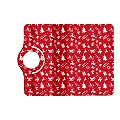 Red Christmas Pattern Kindle Fire Hd (2013) Flip 360 Case by patternstudio