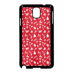 Red Christmas Pattern Samsung Galaxy Note 3 Neo Hardshell Case (black) by patternstudio