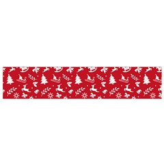 Red Christmas Pattern Small Flano Scarf by patternstudio
