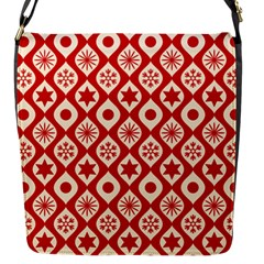 Ornate Christmas Decor Pattern Flap Messenger Bag (s) by patternstudio
