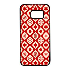 Ornate Christmas Decor Pattern Samsung Galaxy S7 Black Seamless Case by patternstudio