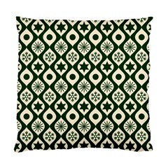 Green Ornate Christmas Pattern Standard Cushion Case (one Side) by patternstudio