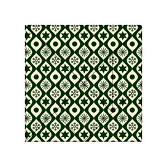 Green Ornate Christmas Pattern Acrylic Tangram Puzzle (4  X 4 ) by patternstudio