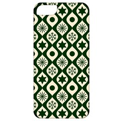 Green Ornate Christmas Pattern Apple Iphone 5 Classic Hardshell Case by patternstudio