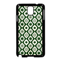 Green Ornate Christmas Pattern Samsung Galaxy Note 3 Neo Hardshell Case (black) by patternstudio