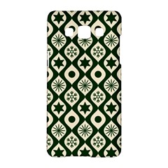 Green Ornate Christmas Pattern Samsung Galaxy A5 Hardshell Case  by patternstudio