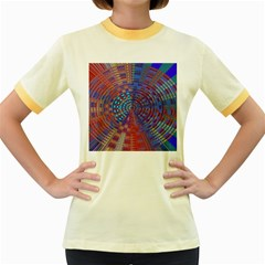 Gateway To The Light 5 Women s Fitted Ringer T Shirts by Cveti