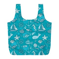 Fun Everyday Sea Life Full Print Recycle Bags (l)  by allthingseveryday