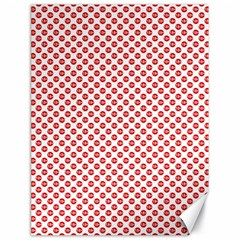 Sexy Red And White Polka Dot Canvas 18  X 24   by PodArtist