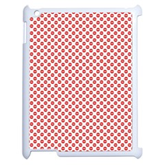 Sexy Red And White Polka Dot Apple Ipad 2 Case (white) by PodArtist