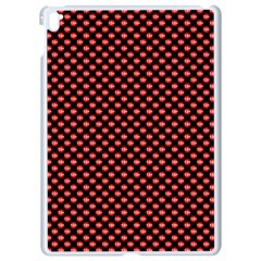 Sexy Red And Black Polka Dot Apple Ipad Pro 9 7   White Seamless Case by PodArtist