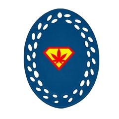 Super Dealer Oval Filigree Ornament (two Sides) by PodArtist