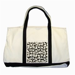 Black And White Catmouflage Camouflage Two Tone Tote Bag