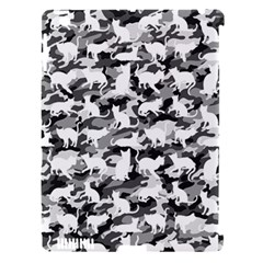 Black And White Catmouflage Camouflage Apple Ipad 3/4 Hardshell Case (compatible With Smart Cover) by PodArtist