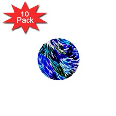 Abstract Background Blue White 1  Mini Buttons (10 Pack)  by Celenk