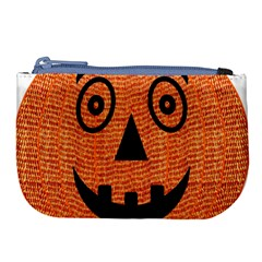 Fabric Halloween Pumpkin Funny Large Coin Purse by Celenk