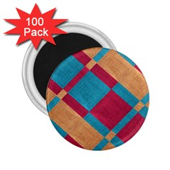 Fabric Textile Cloth Material 2 25  Magnets (100 Pack)  by Celenk