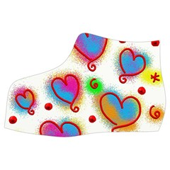 Love Hearts Shapes Doodle Art Women s Mid Top Canvas Sneakers