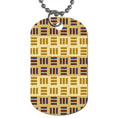 Textile Texture Fabric Material Dog Tag (one Side) by Celenk